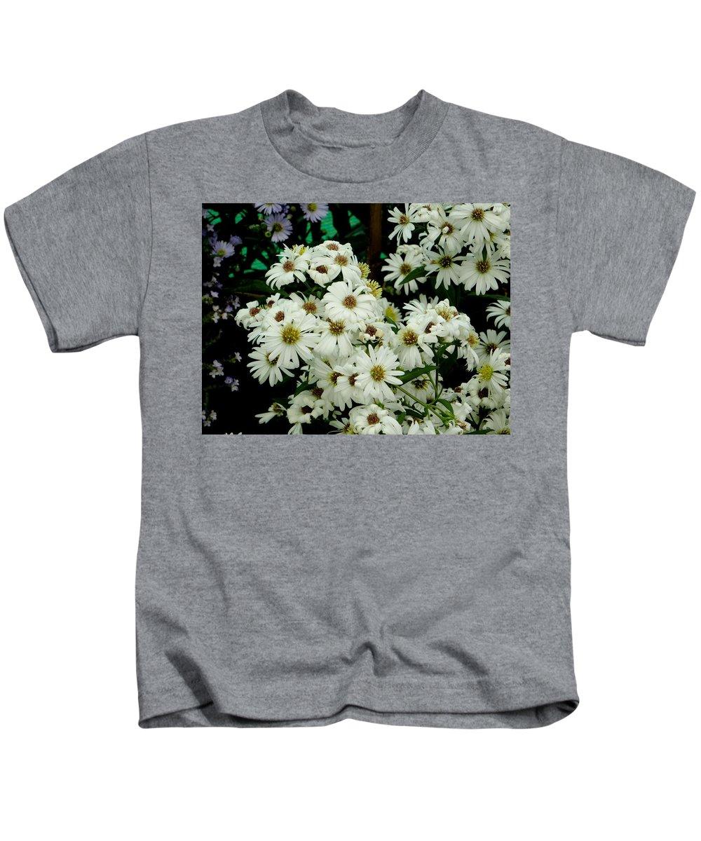 White Kids T-Shirt featuring the photograph Daisies by Usha Shantharam