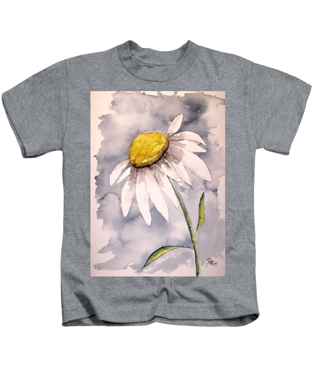 Daisy Kids T-Shirt featuring the painting Daisy Modern poster print fine art by Derek Mccrea