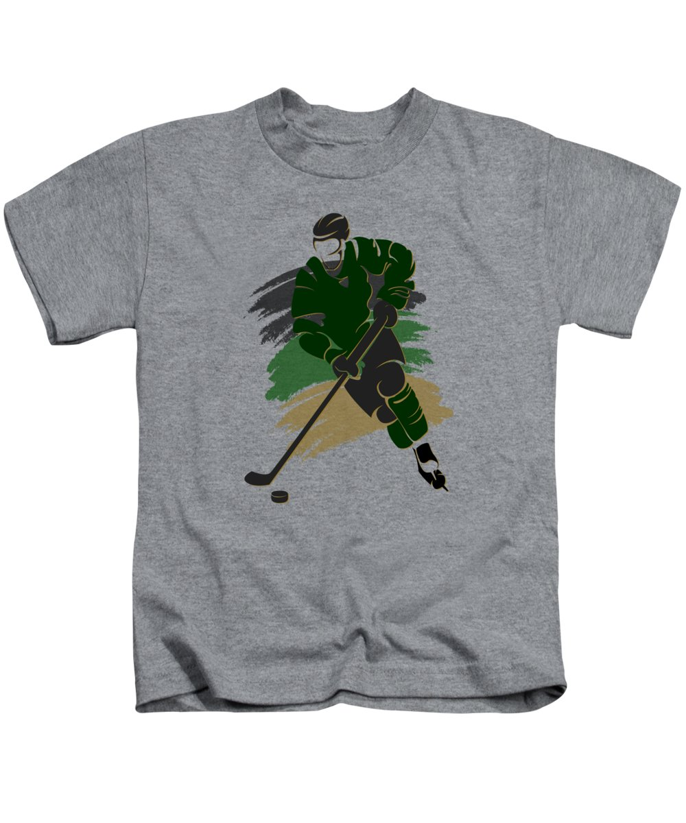 Stars Kids T-Shirt featuring the photograph Dallas Stars Player Shirt by Joe Hamilton