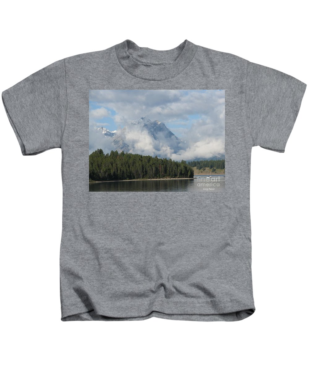 Patzer Kids T-Shirt featuring the photograph Dam Clouds by Greg Patzer