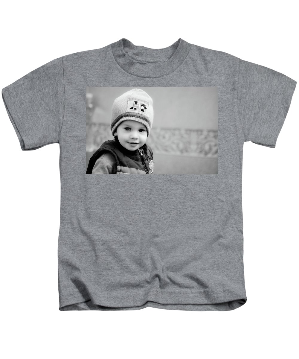 Kids T-Shirt featuring the photograph Dan The Man by Trish Tritz