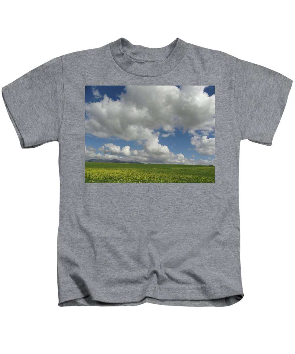 Mustard Kids T-Shirt featuring the photograph Dances With Mustard by Shannon Grissom
