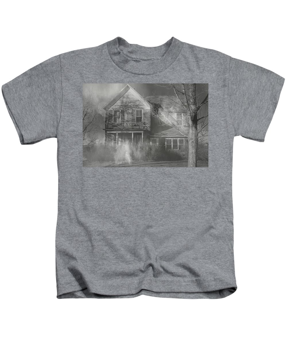Haunted Kids T-Shirt featuring the photograph Dancing Ghosts by Theresa Campbell
