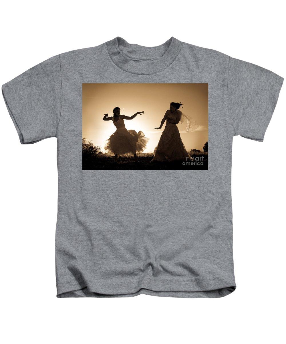 Dancing Girls Kids T-Shirt featuring the photograph Dancing Girls by Scott Sawyer