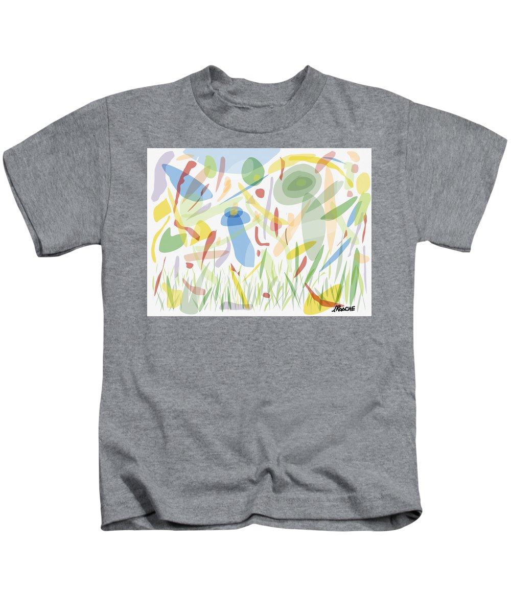 Landscape Kids T-Shirt featuring the digital art Dancing In The Rain by Joe Roache