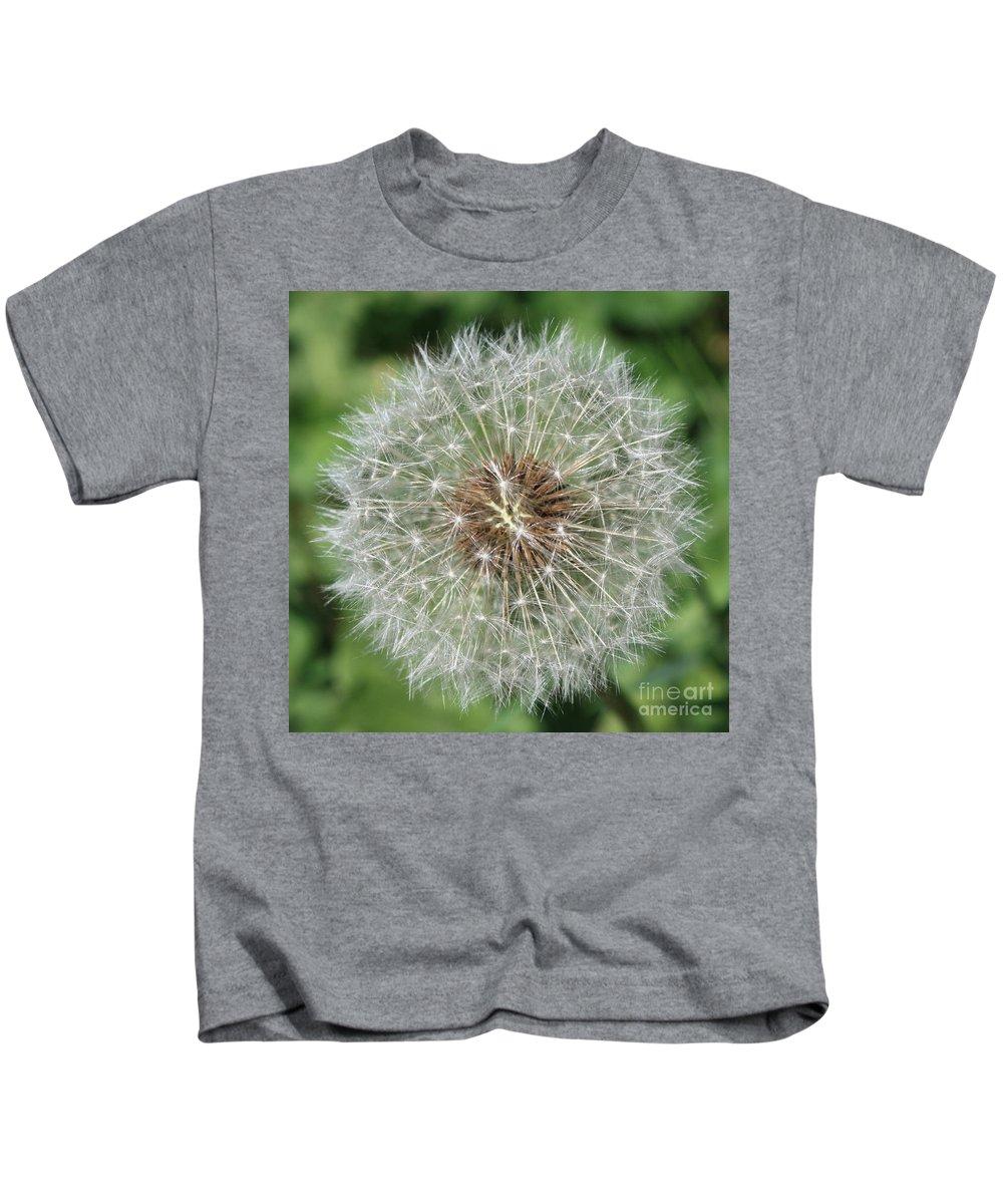 Dandelion Kids T-Shirt featuring the photograph Dandelion Macro by Carol Groenen