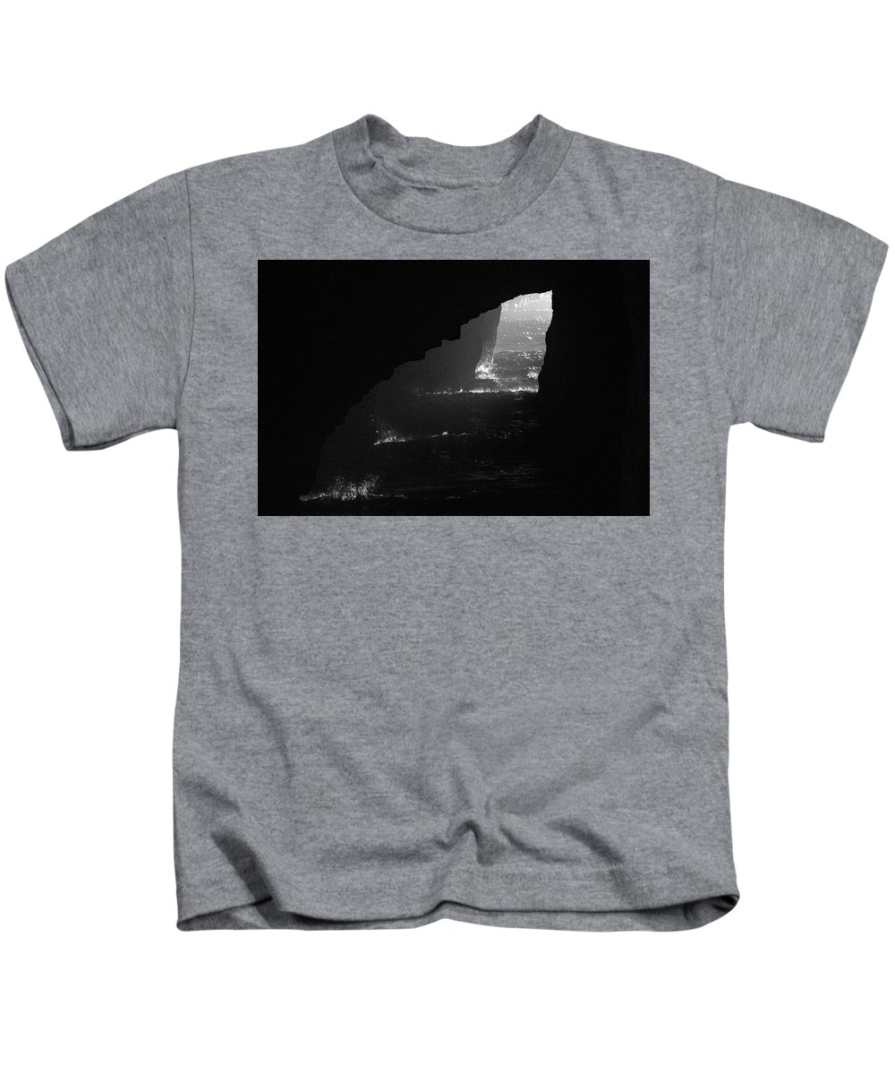 Cave Kids T-Shirt featuring the photograph Dark Cave by Jonny D