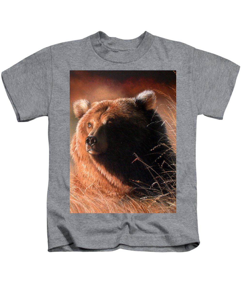 Wildlife Kids T-Shirt featuring the painting Day Dream by Deb Owens-Lowe