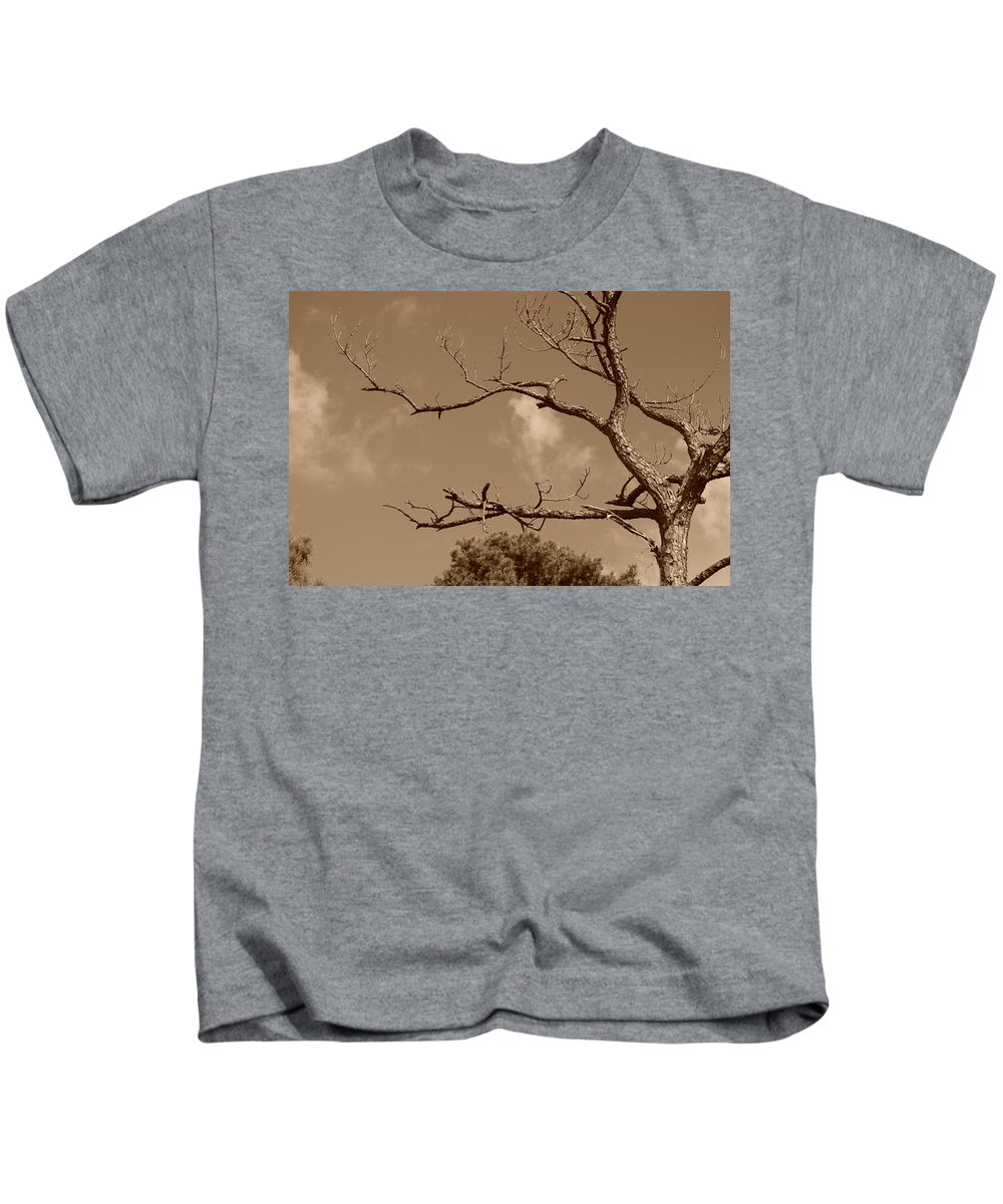 Sepia Kids T-Shirt featuring the photograph Dead Wood by Rob Hans