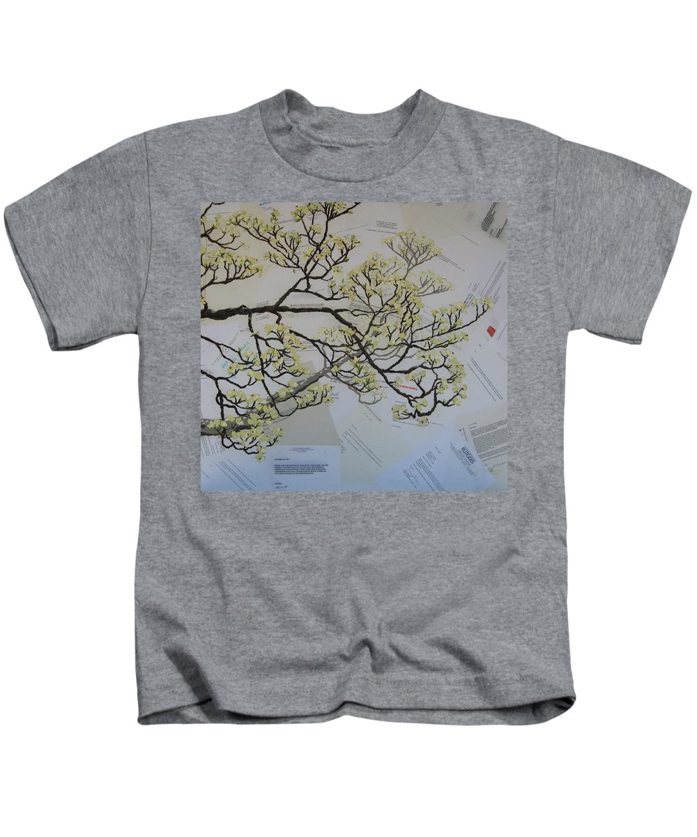Collage Kids T-Shirt featuring the painting Dear Artist by Leah Tomaino