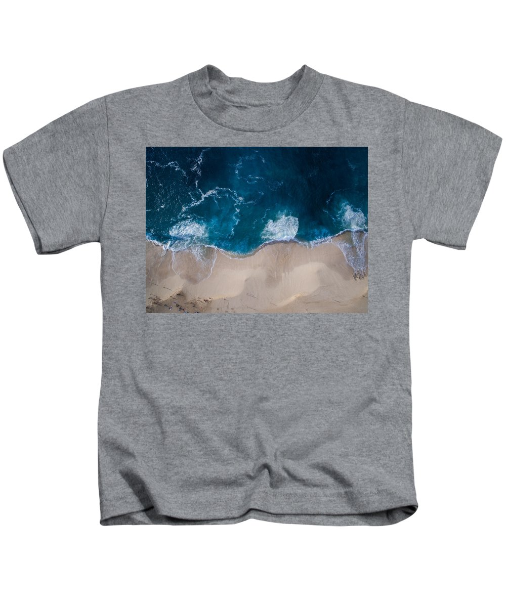 Landscape Kids T-Shirt featuring the photograph Deep Blue by Videosophy