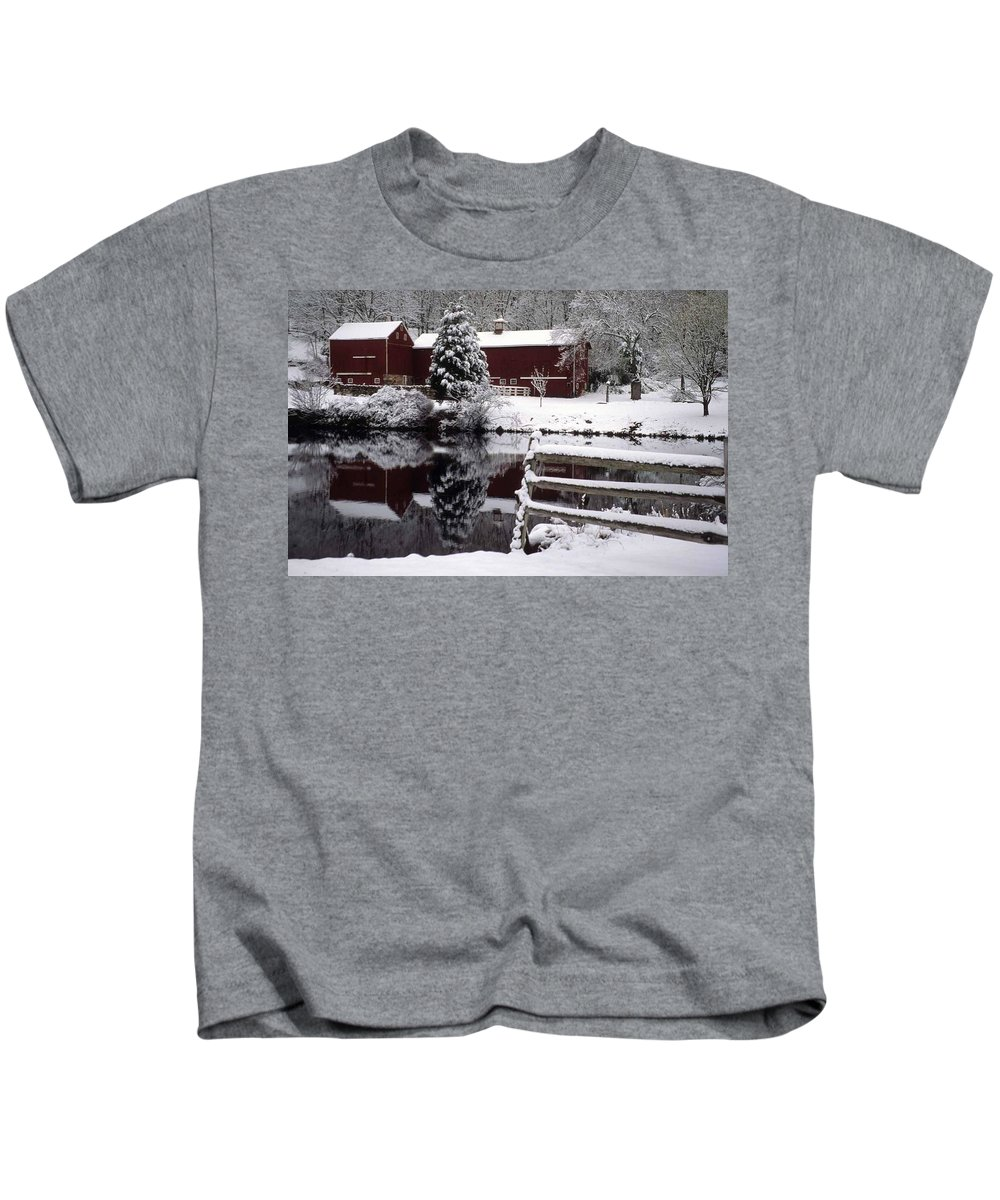 Barn Kids T-Shirt featuring the photograph Denville Homestead by Laurie Paci