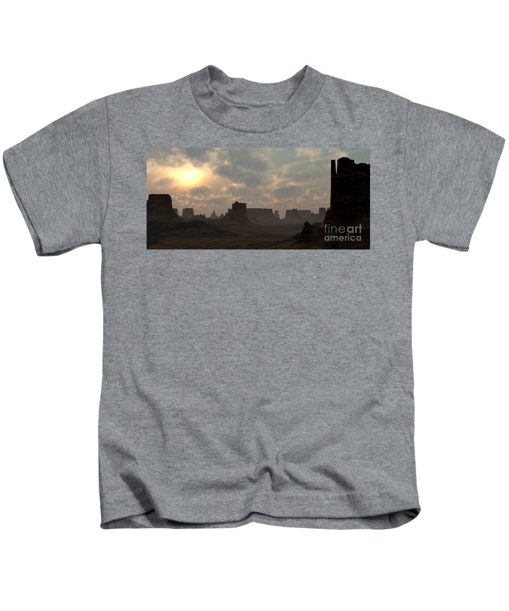 Desert Kids T-Shirt featuring the digital art Desert Morning by Richard Rizzo