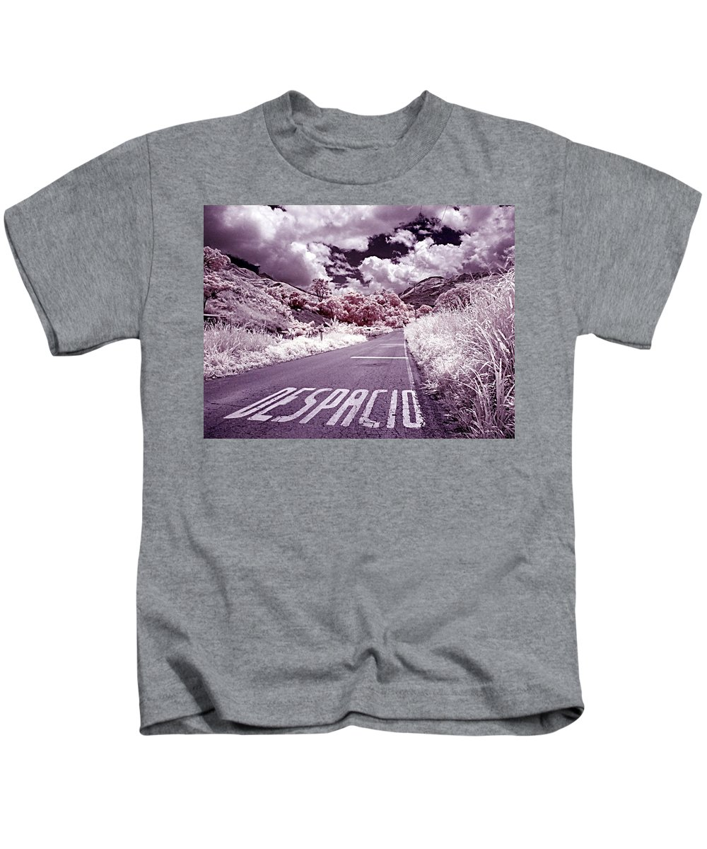 Infrared Kids T-Shirt featuring the photograph Despacio by Galeria Trompiz