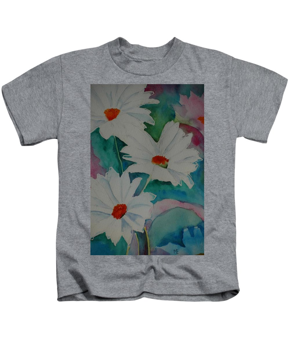 Daisies Kids T-Shirt featuring the painting Devin's Dasies by Melinda Etzold
