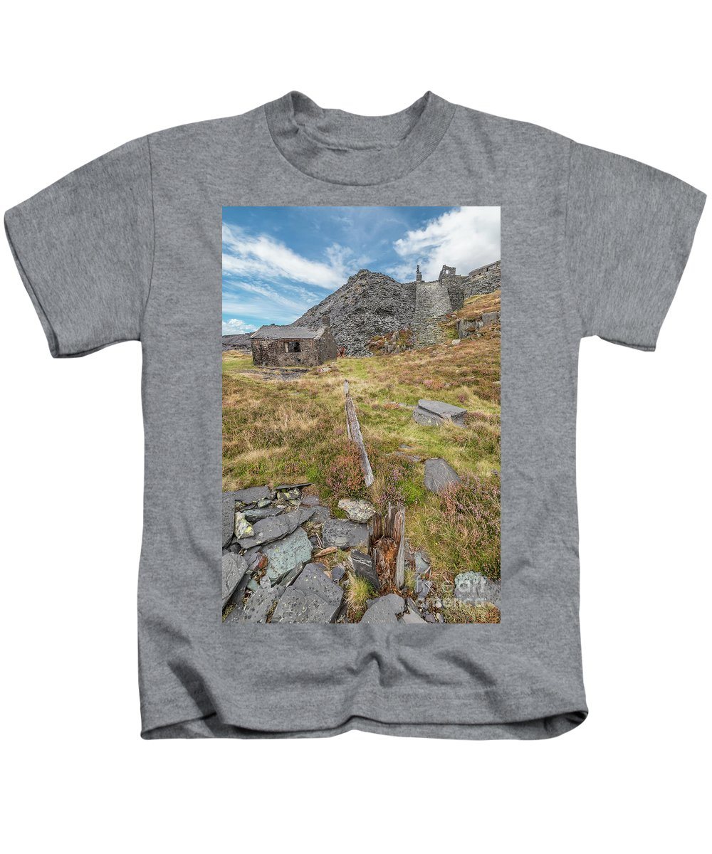 British Kids T-Shirt featuring the photograph Dinorwic Quarry Ruins by Adrian Evans