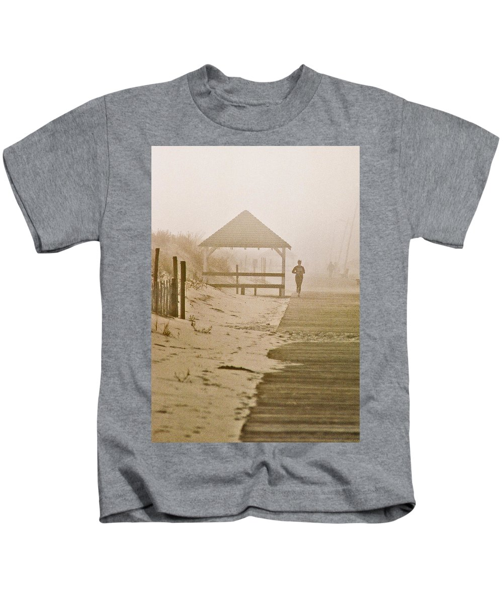 Landscape Kids T-Shirt featuring the photograph Disappearance by Steve Karol