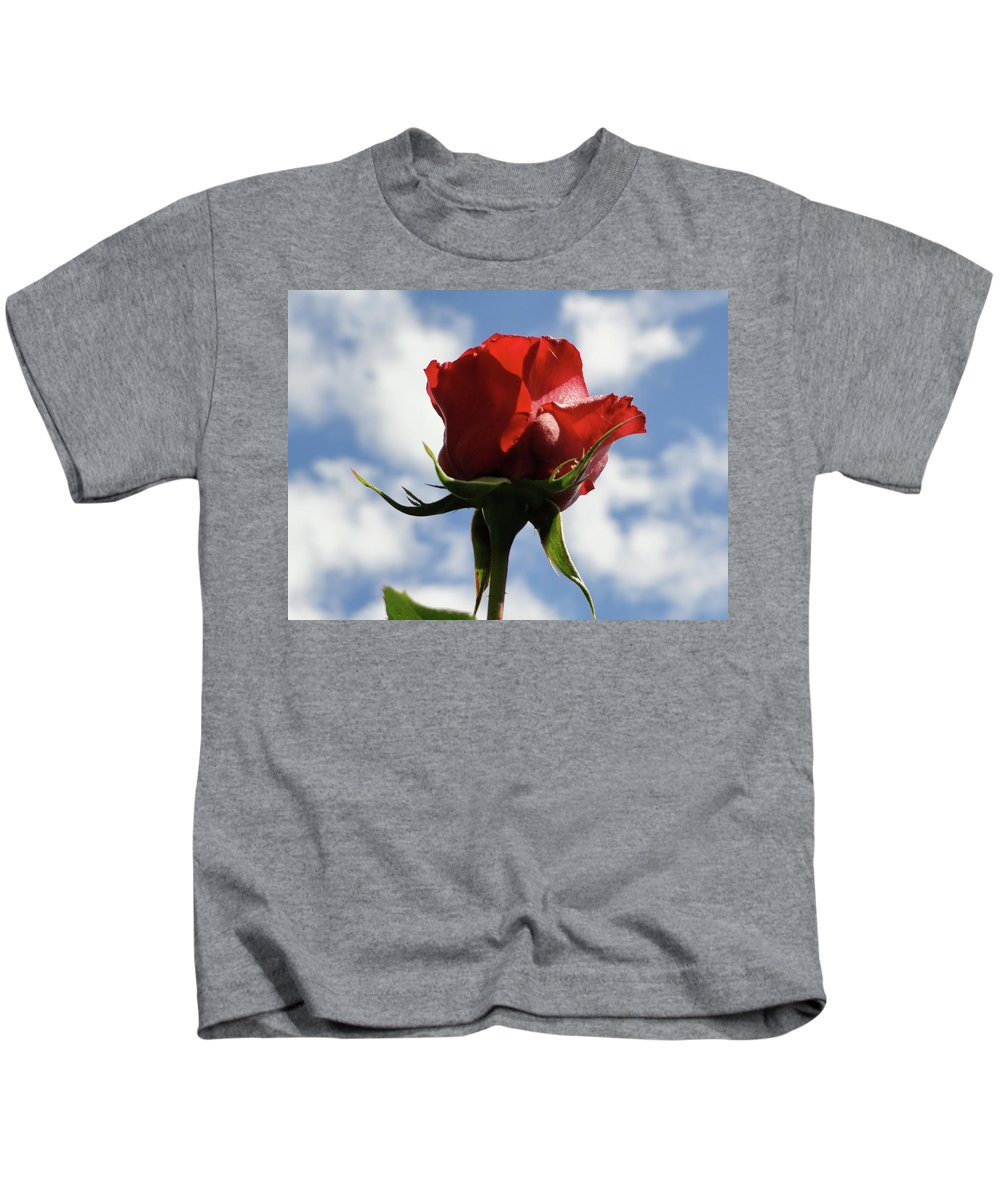 Rose Kids T-Shirt featuring the photograph Diva Rose by Shannon Grissom