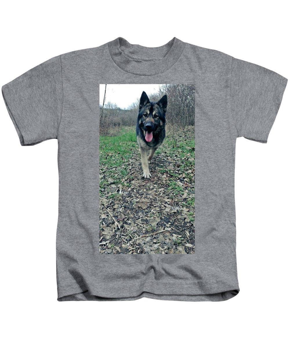 Kids T-Shirt featuring the photograph Dog by Adam Schrenk