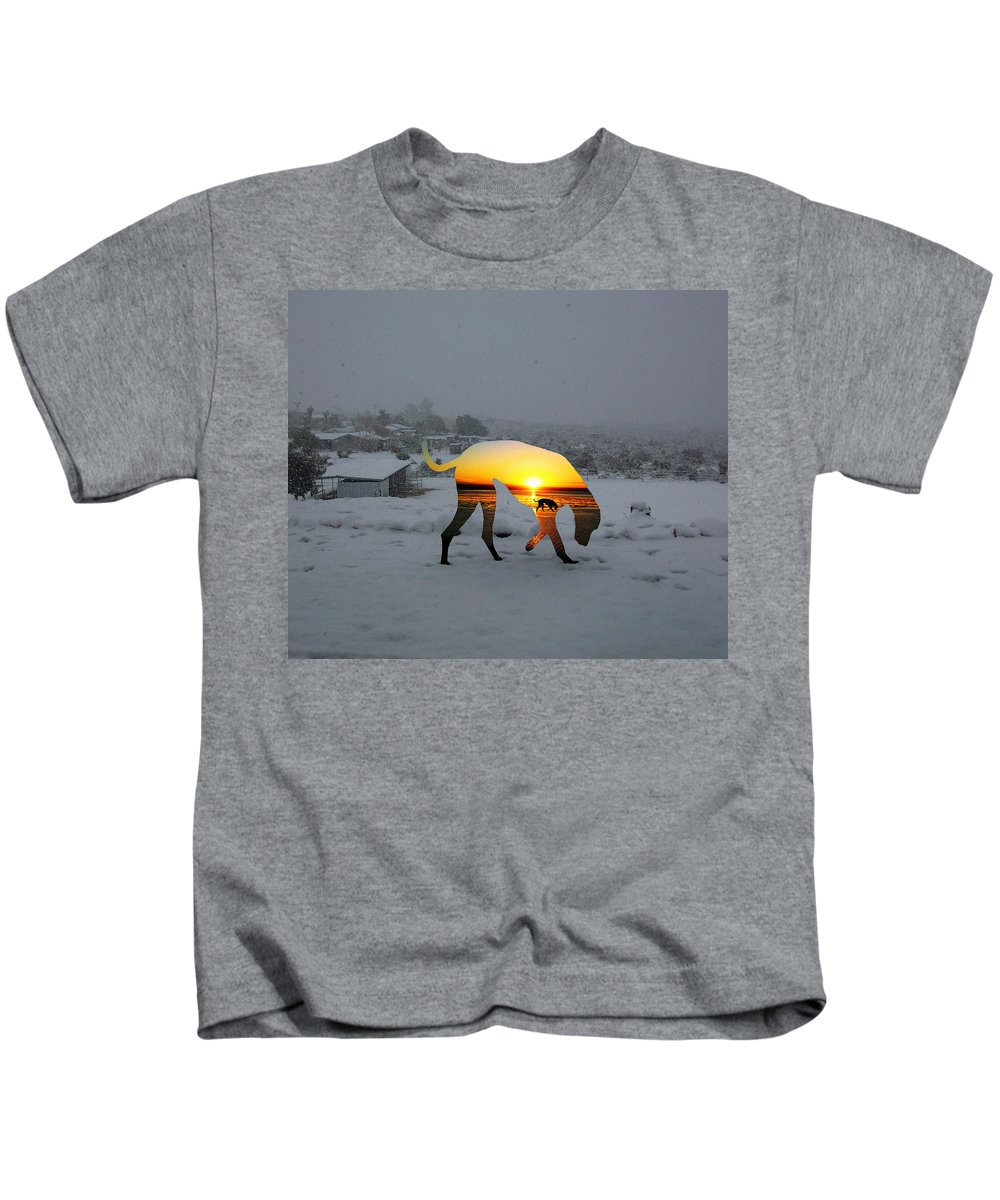 Landscape Kids T-Shirt featuring the photograph Dog Day Afternoon by Snake Jagger