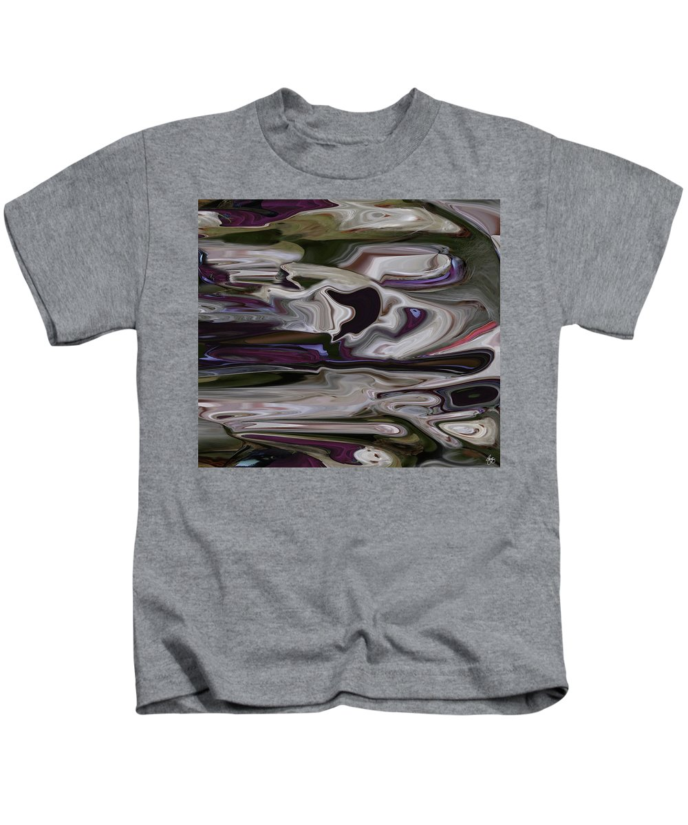 Abstract Kids T-Shirt featuring the photograph Dog Race by Wayne King