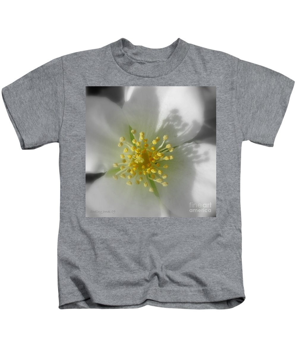 Photography Kids T-Shirt featuring the photograph Dogwood by Shelley Jones