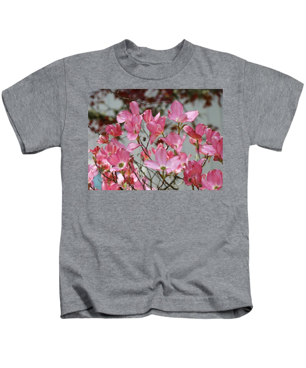 Dogwood Kids T-Shirt featuring the photograph Dogwood Trees Flower Blossoms Art Baslee Troutman by Baslee Troutman