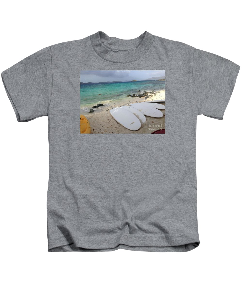 Beach Kids T-Shirt featuring the photograph Done For The Day by Gina Sullivan