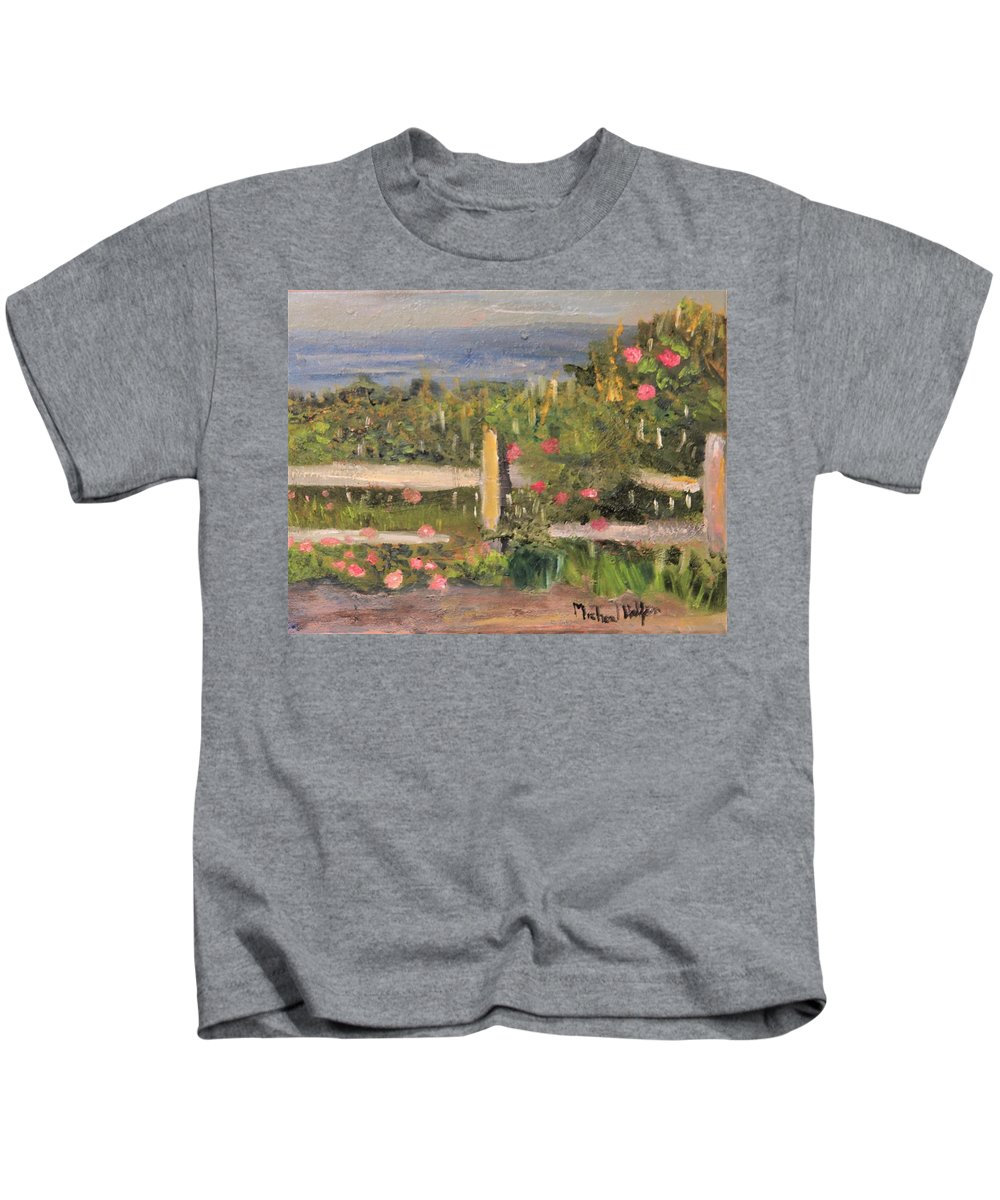 Nature Kids T-Shirt featuring the painting Don't Fence Me In by Michael Helfen