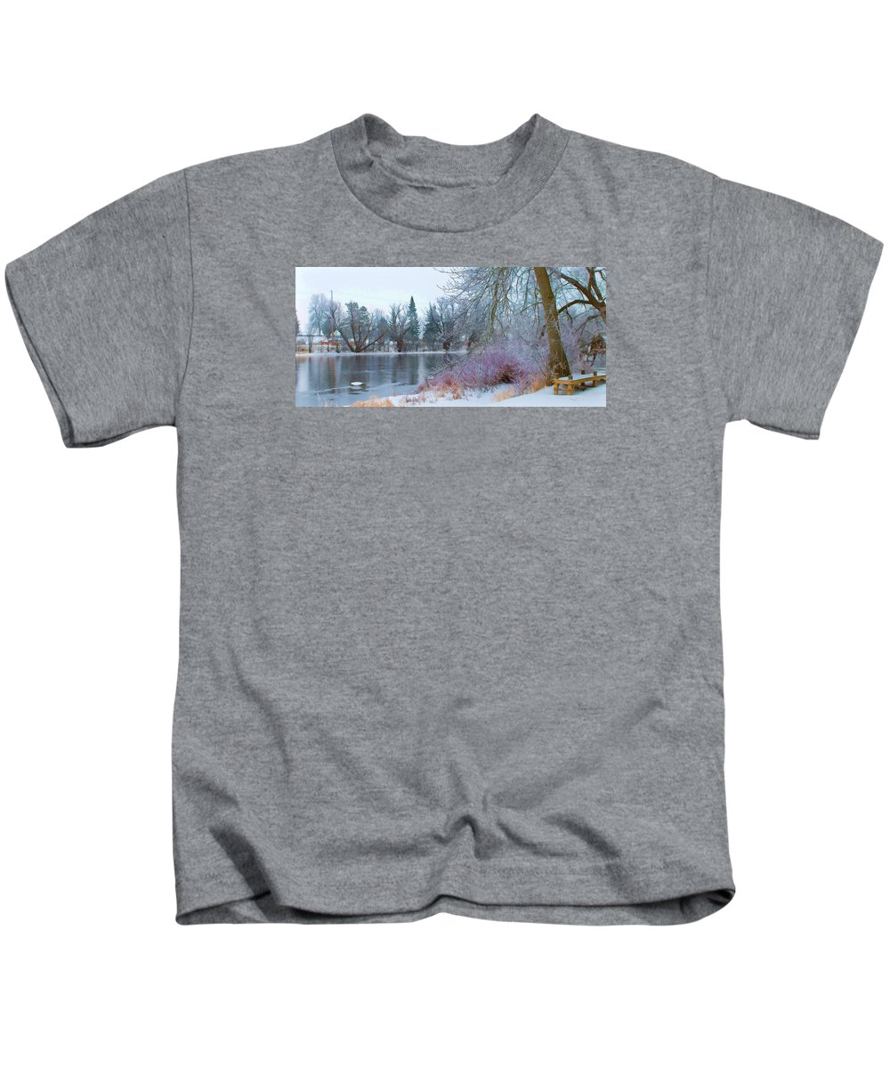 Landscape Kids T-Shirt featuring the photograph Down By The Riverbend by Jasmin Mori