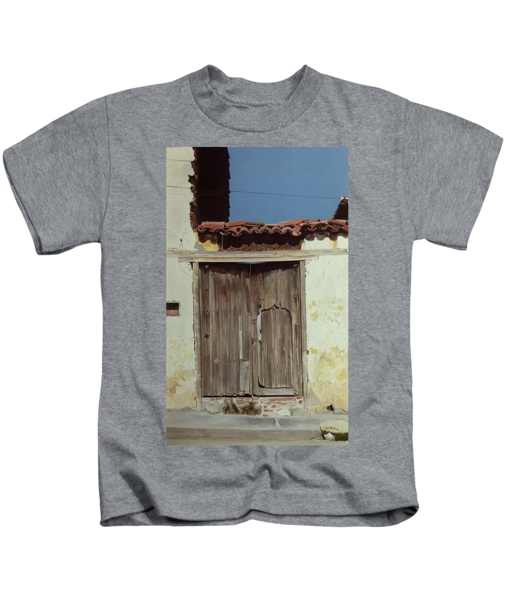 Hyperrealism Kids T-Shirt featuring the painting Dr Belizario Dominguez by Michael Earney