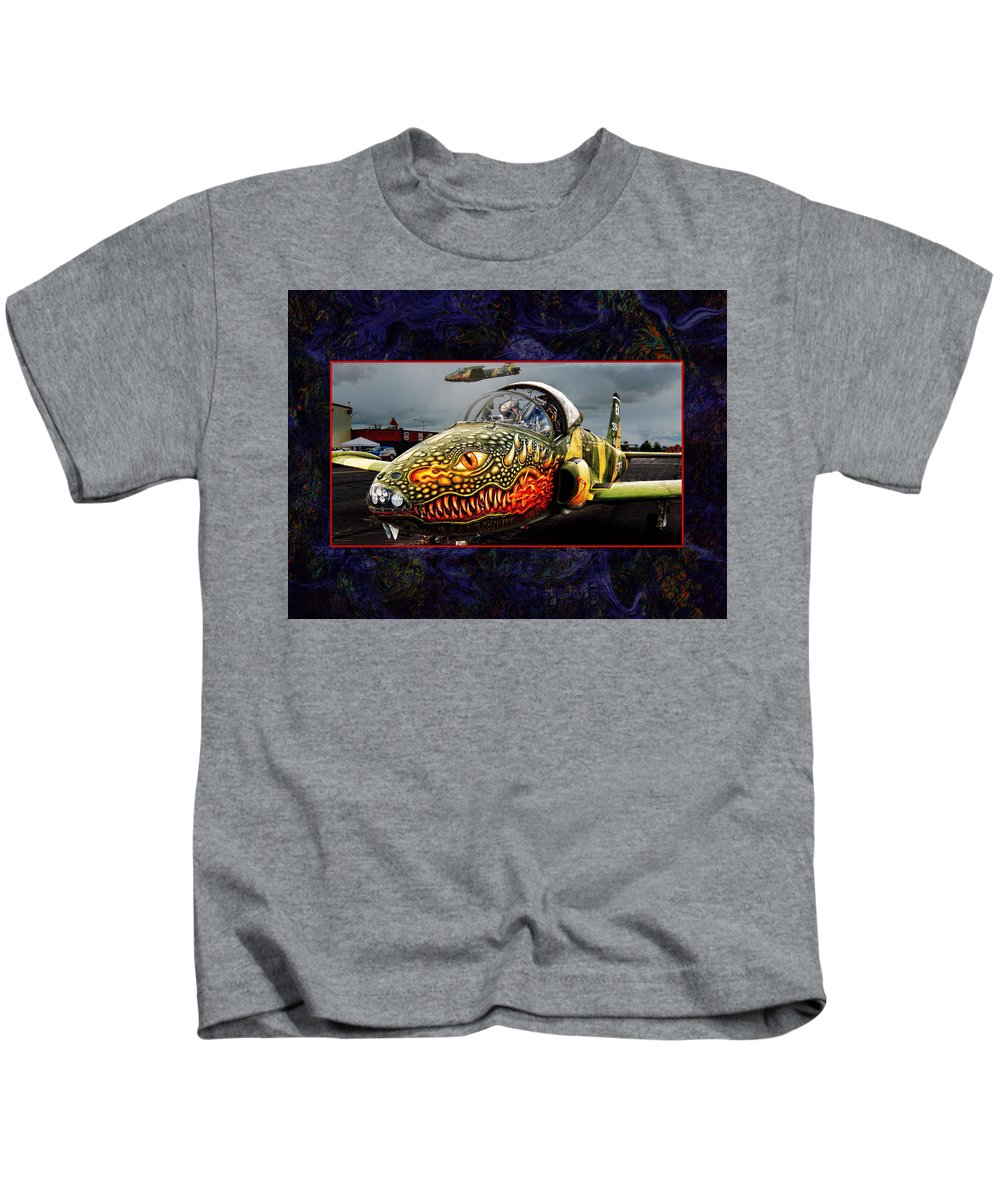 Strikemaster Kids T-Shirt featuring the photograph Dragon Jet by Bob Welch