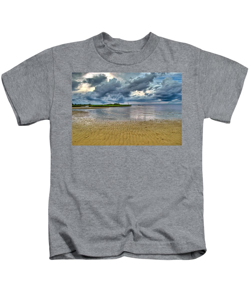 Beach Kids T-Shirt featuring the photograph Dramatic Cloudscape by Rich Leighton