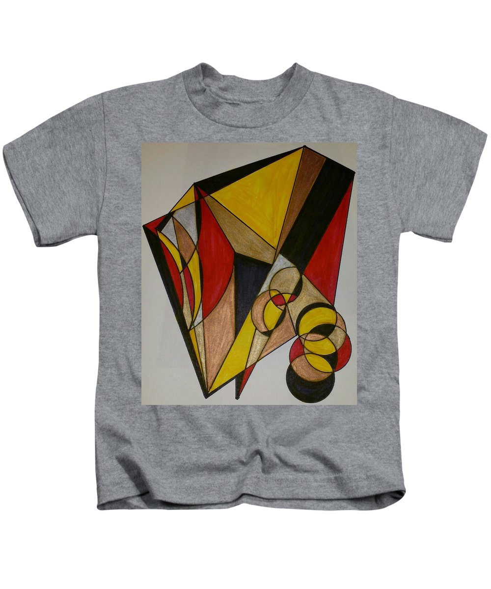 Geometric Art Kids T-Shirt featuring the glass art Dream 6 by S S-ray