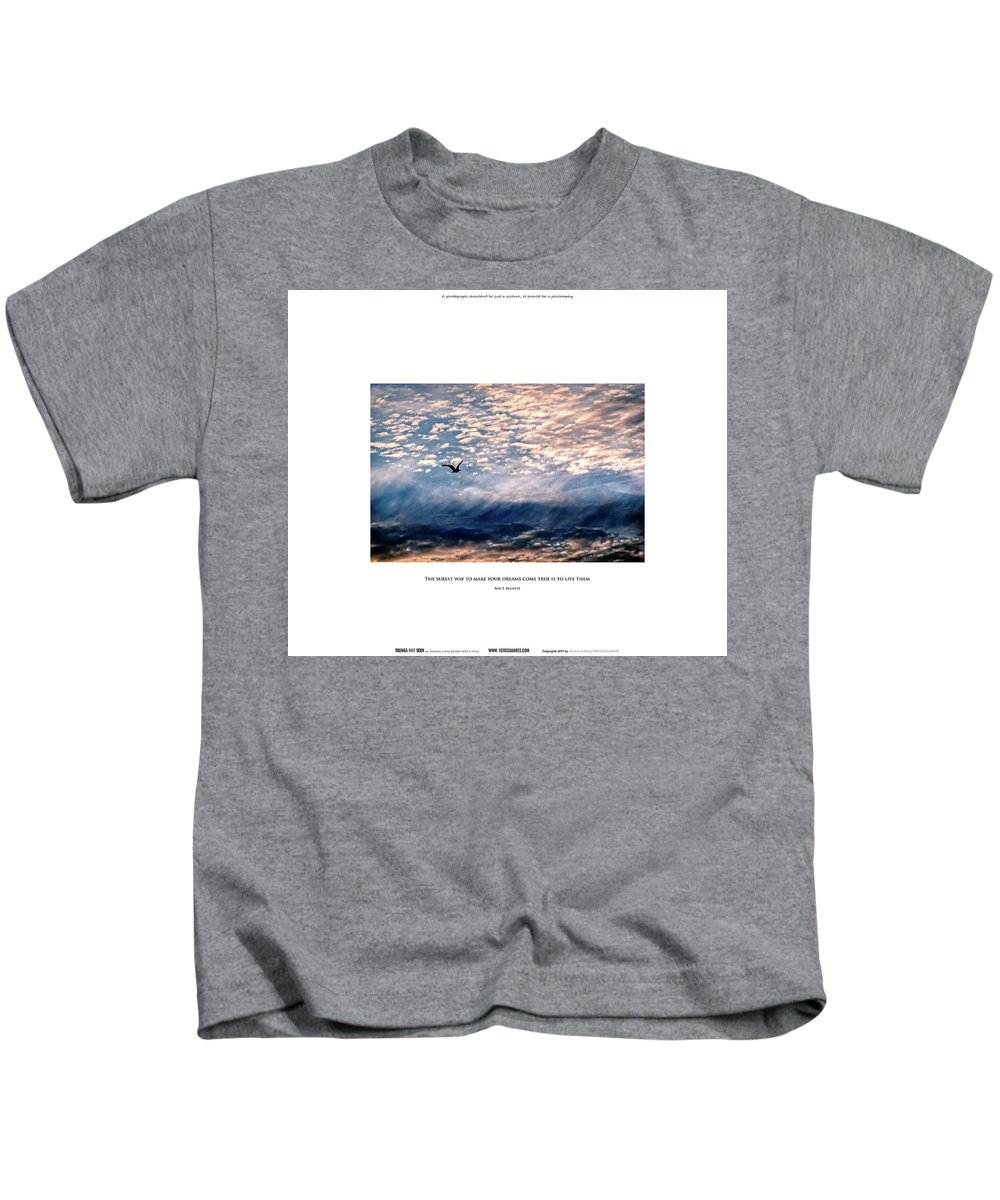 #things Not Seen Kids T-Shirt featuring the photograph Dreams Come True by Anka Wong