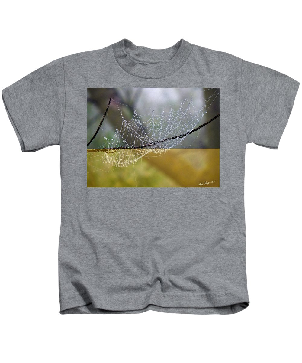 Summer Kids T-Shirt featuring the photograph Dripping With Diamonds by Wild Thing