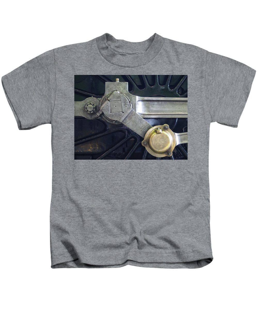 Locomotive Kids T-Shirt featuring the photograph Pacific Locomotive - Drive by Philip Openshaw