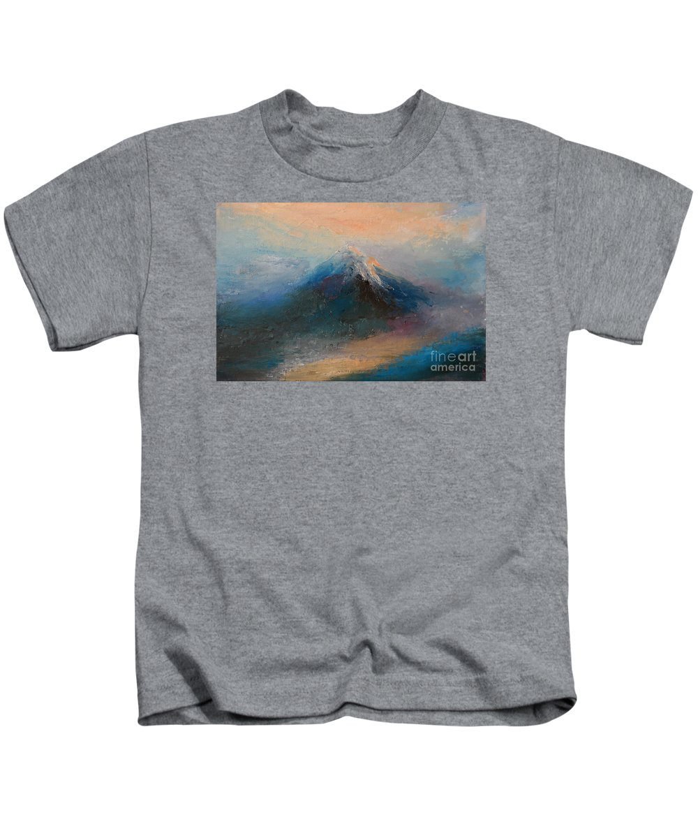 Landscape Kids T-Shirt featuring the painting Dusk 10 by Pusita Gibbs
