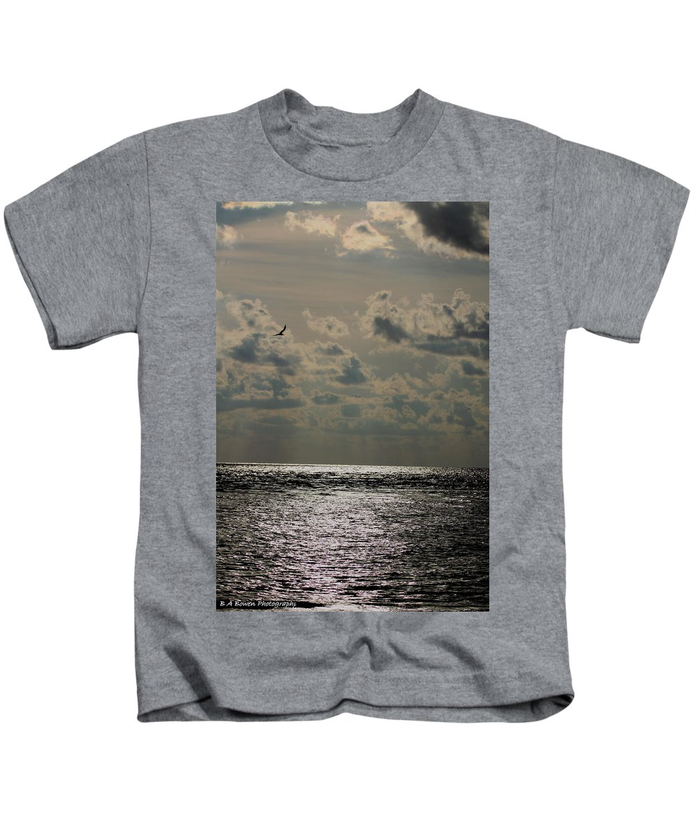 Sunset Kids T-Shirt featuring the photograph Dusk Sets In by Barbara Bowen