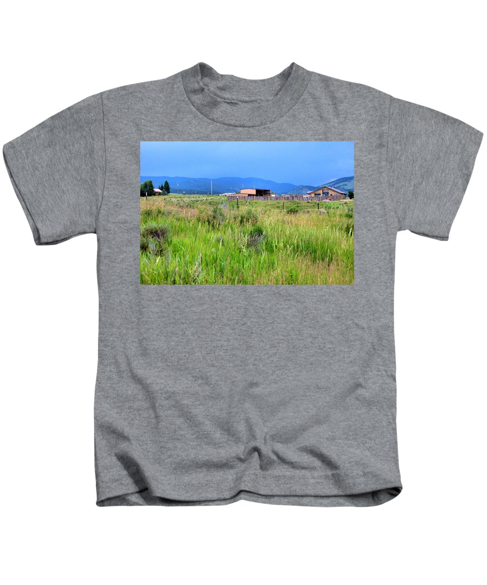 New Mexico Kids T-Shirt featuring the photograph Eagle Nest New Mexico by Chris Giese