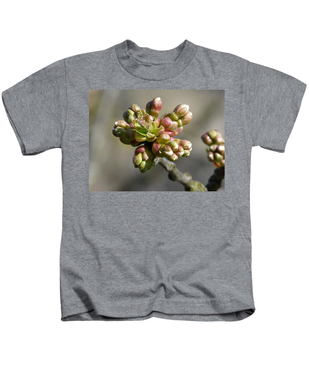 Cherry Kids T-Shirt featuring the photograph Early Cherry Blossom by Valerie Ornstein