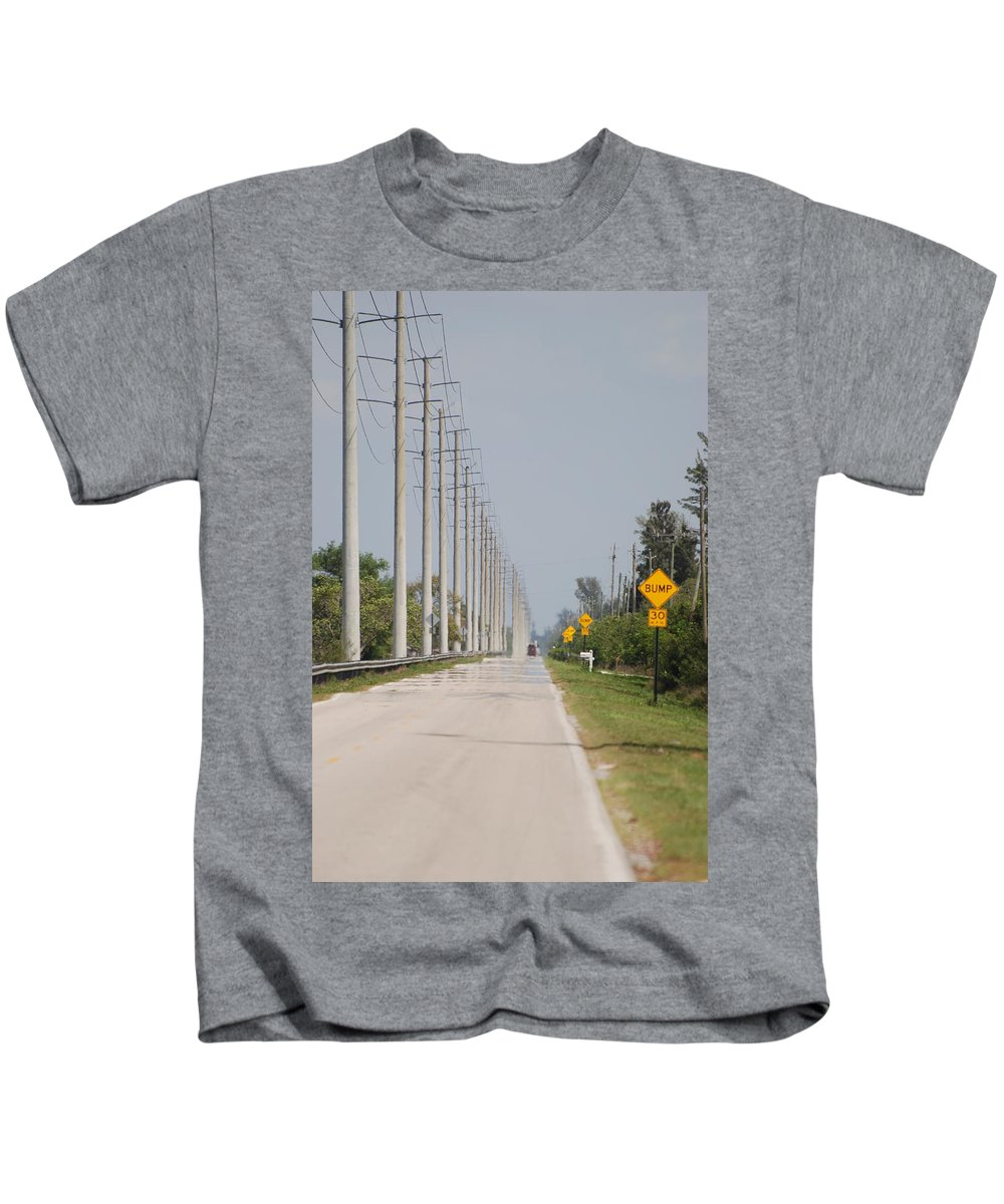 Trees Kids T-Shirt featuring the photograph East Bound And Down by Rob Hans