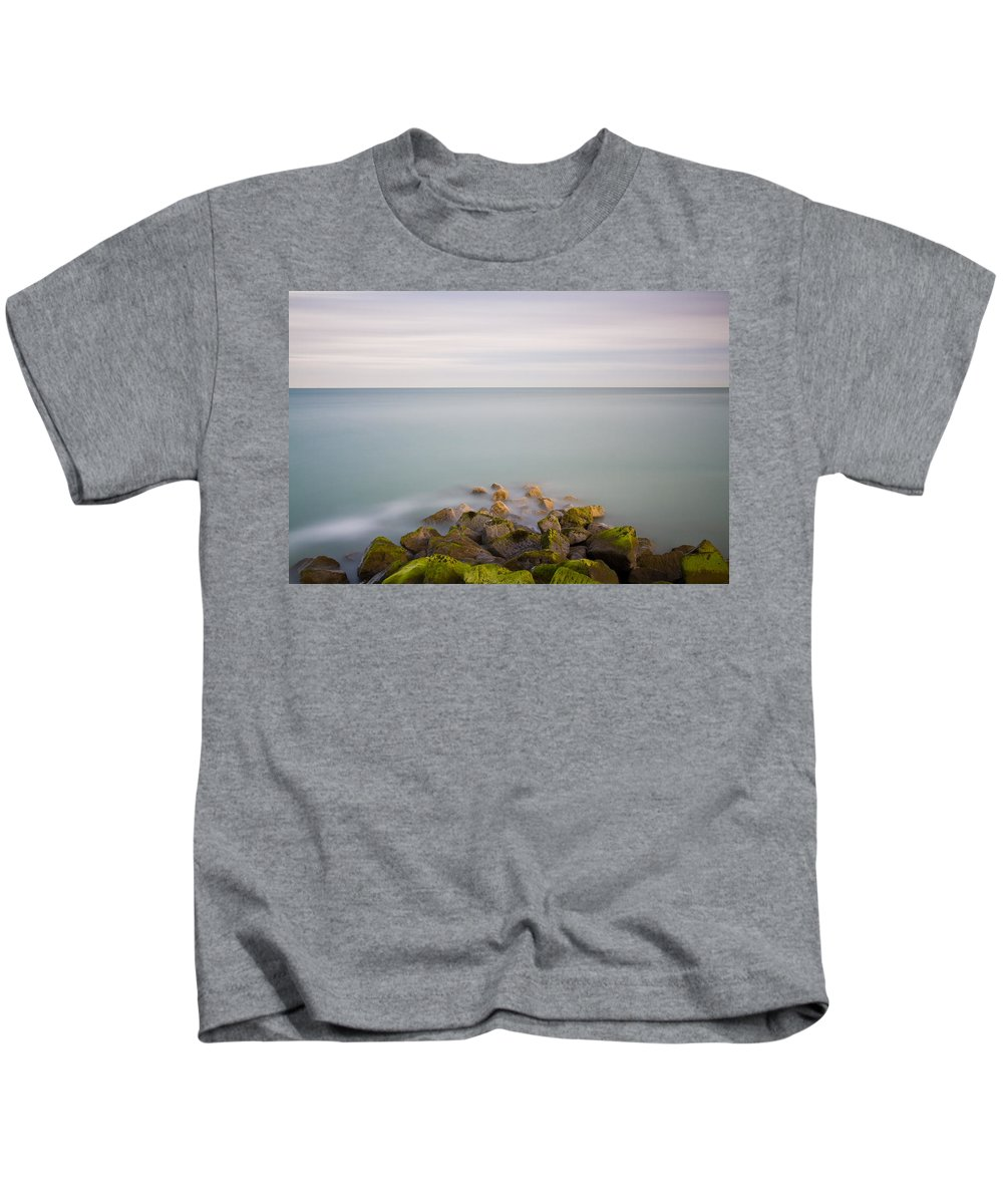 Seascape Kids T-Shirt featuring the photograph Eastbourne Sovereign Harbour by Will Gudgeon