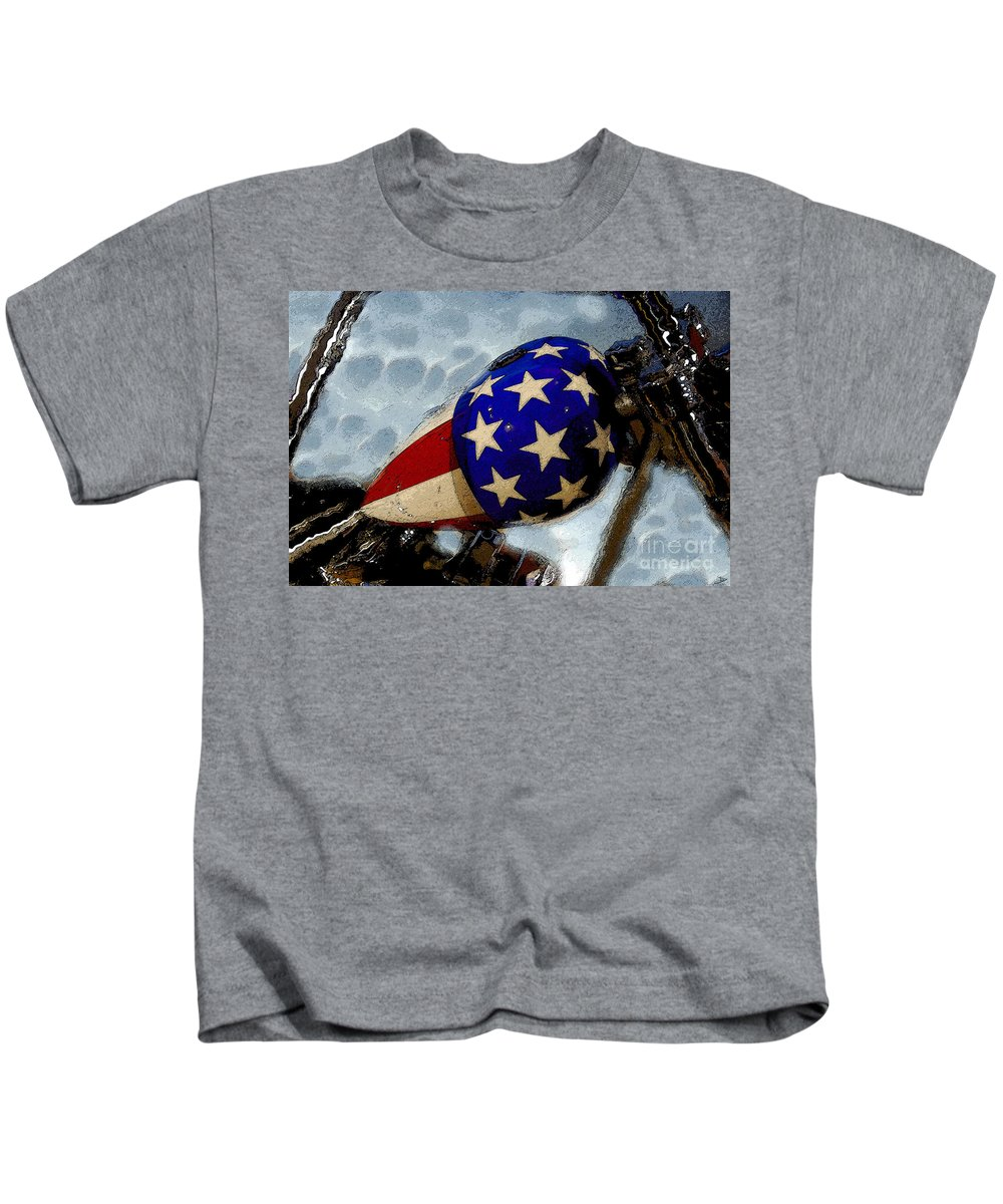 Art Kids T-Shirt featuring the painting Easy Rider by David Lee Thompson