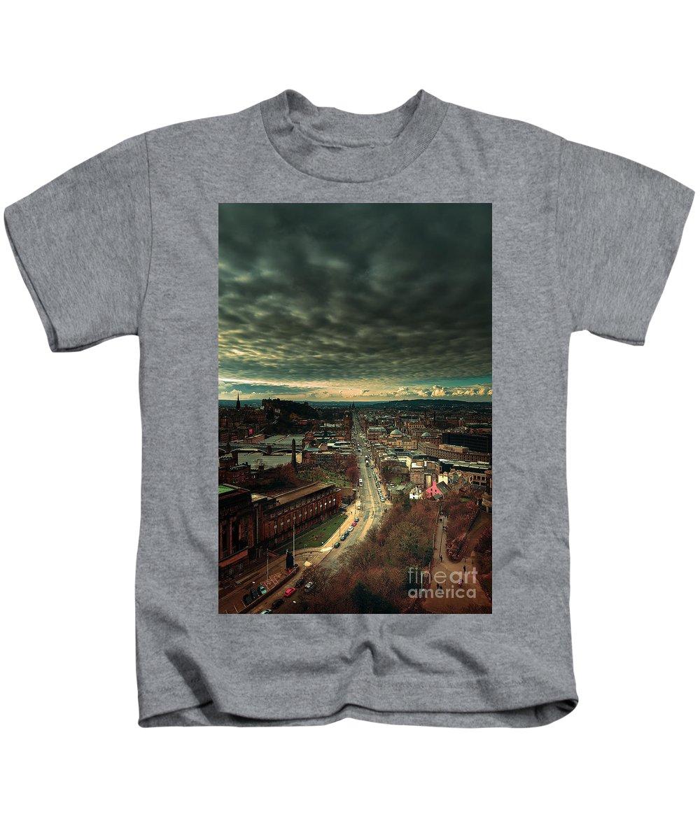 Edinburgh Kids T-Shirt featuring the photograph Edinburgh Collection by John Noe