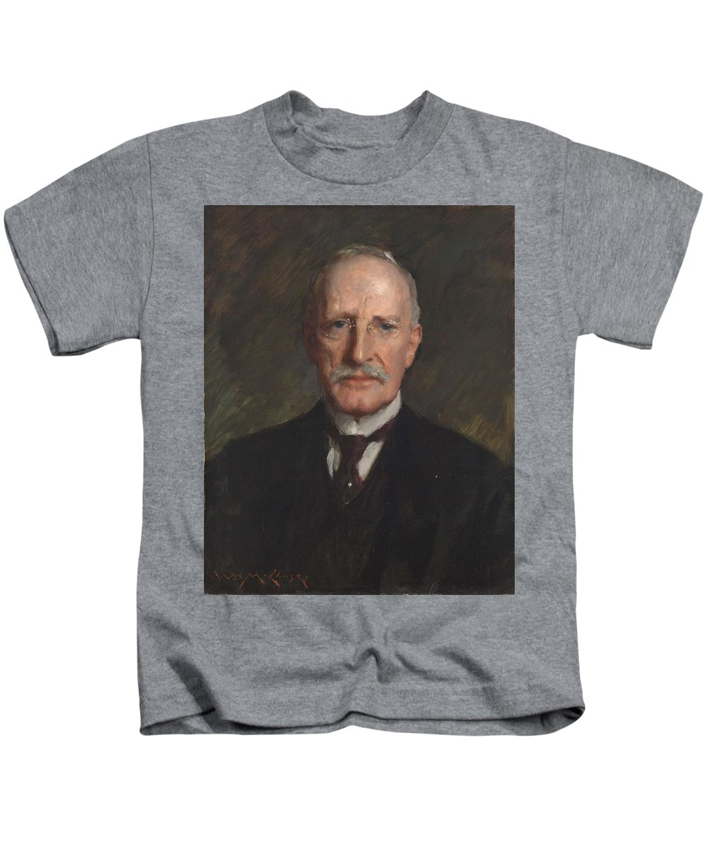Man Kids T-Shirt featuring the painting Edward Guthrie Kennedy , By William Merritt Chase 1849-1916 by William Merritt Chase