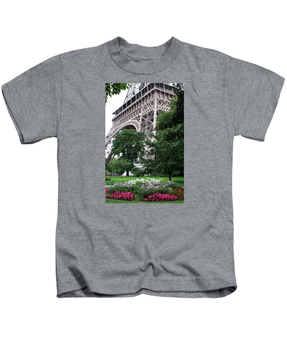 Eiffel Kids T-Shirt featuring the photograph Eiffel Tower Garden by Margie Wildblood