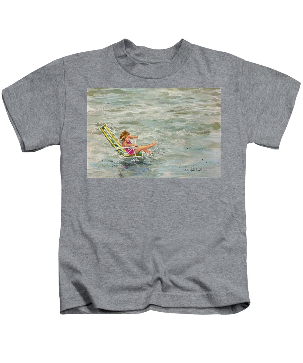 Ocean Kids T-Shirt featuring the painting El And Water by Shirley Sykes Bracken