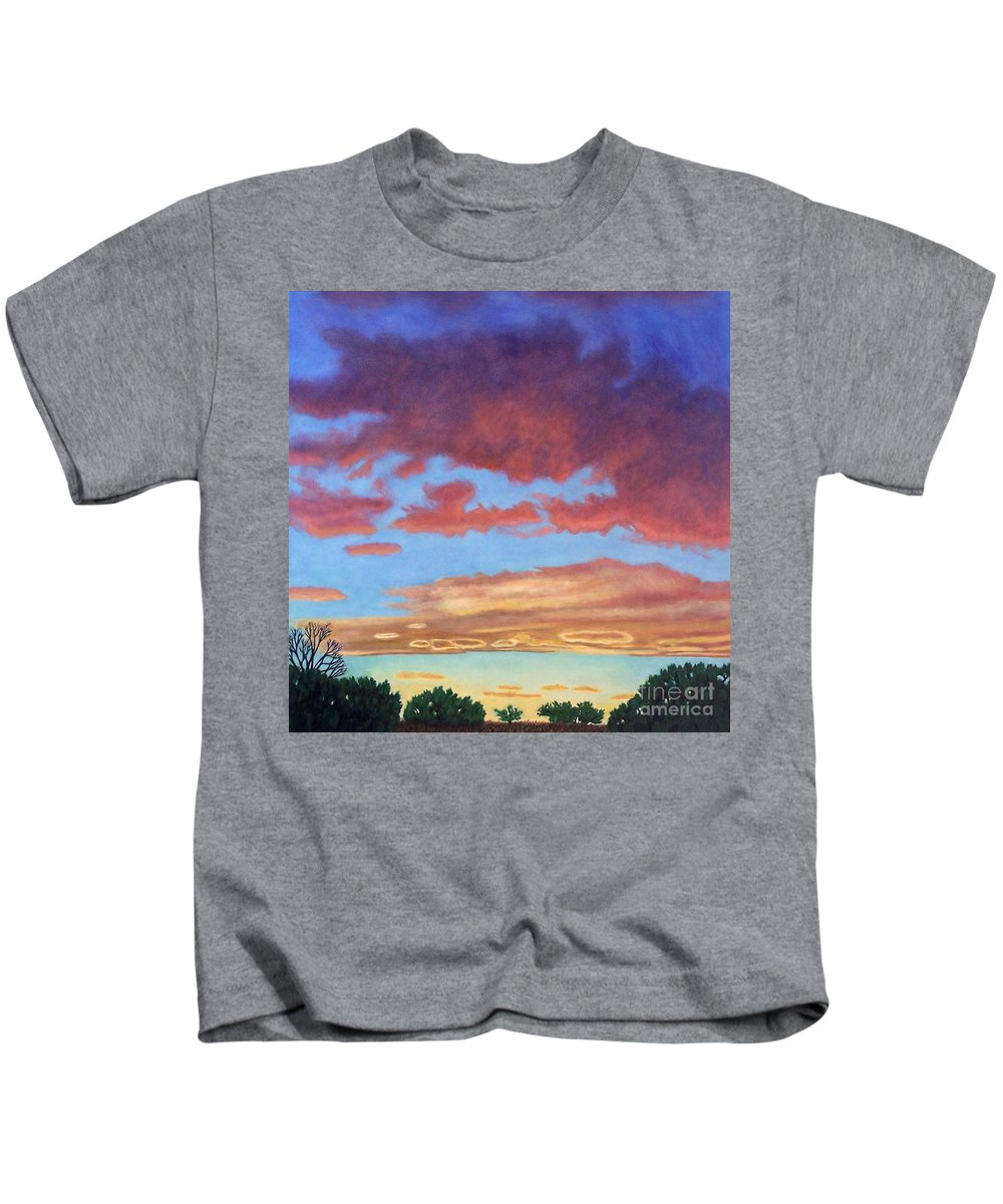 Sunset Kids T-Shirt featuring the painting El Dorado Sunset by Brian Commerford