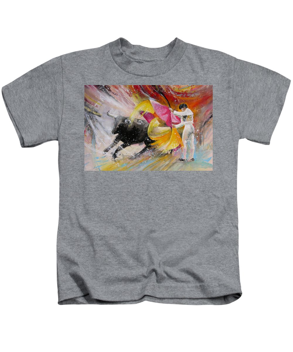 Animals Kids T-Shirt featuring the painting Elegance by Miki De Goodaboom